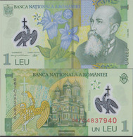 Romania Pick-number: 117b Uncirculated 2006 1 Leu (plastic) - Rumania