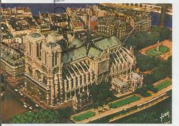 Notre-Dame De Paris. La Cathédrale. Vue Aérienne Du Jardin De L'évêché Par Alain Perceval - Notre Dame De Paris