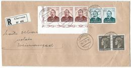 Clervaux - Einschreibebrief Mit Caritas 1952 (Mi 501 & 502) Nach Weiswampach 06-02-1953 - Lettres & Documents