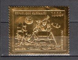 GABON PA N° 92   NEUF SANS CHARNIERE COTE  27.50€   ESPACE HOMME SUR LA LUNE TIMBRE OR - Gabon (1960-...)