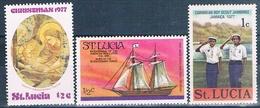 Santa Lucia 1976  -  Yvert  378 + 419 + 425  ( ** ) - St.Lucia (1979-...)