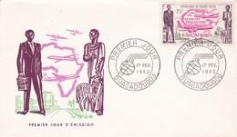 REPUBLIQUE DE HAUTE VOLTA, 1er Jour Koudougou, 17 Fev 1962, Création D'Air Afrique - Haute-Volta (1958-1984)