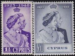 Cyprus   .   SG  .     166/167        .    *  .     Mint-hinged    .   /    .   Ongebruikt - Cyprus (...-1960)
