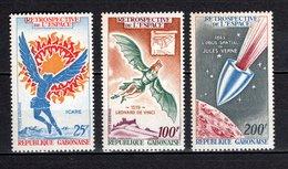 GABON PA N° 94 à 96  NEUFS SANS CHARNIERE COTE 8.00€  ESPACE JULES VERNE - Gabon (1960-...)