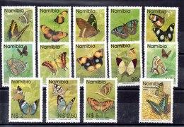 Series De Namibia N ºYvert 707/19 +727 ** MARIPOSAS (BUTTERFLIES) - Namibië (1990- ...)