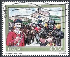 Italia, 2008 Mamoiada €.0,60 # Sassone 3049 - Michel 3259 - Scott 2890  USATO - 6. 1946-.. Repubblica