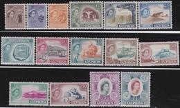Cyprus  .   SG  .     173/187  (184: O)      .    *  .     Mint-hinged    .   /    .   Ongebruikt - Cyprus (...-1960)