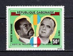 GABON PA N° 107  NEUF SANS CHARNIERE COTE  2.50€  PRESIDENT BONGO  PONPIDOU - Gabon (1960-...)
