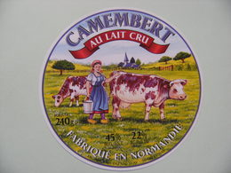 Etiquette Camembert - La Laitière - Fromagerie Du Val D'Ay  Réaux à Lessay 50 Normandie - Manche  A Voir ! - Quesos