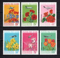GABON PA N° 112 à 117  NEUFS SANS CHARNIERE COTE  10.00€  FLEUR  AVION - Gabon (1960-...)