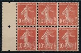 CR-31: FRANCE: Lot  Avec N°138fa ( Type II Papier X) En Bloc De 6 **  (voir Descriptif) - 1906-38 Semeuse Camée