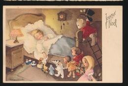 MEISJE IN BED MET SPEELGOED - Enfants