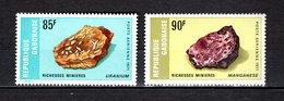 GABON PA N° 118 + 119  NEUFS SANS CHARNIERE COTE 15.00€  MINERAUX - Gabon (1960-...)
