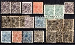 Espagne Petite Collection Type Alphonse XIII De 1889 Neufs **/*. Bonnes Valeurs. B/TB. A Saisir! - Neufs