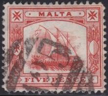 Malta     .   SG  .    59        .    O  .     Cancelled    .   /    .   Gebruikt - Malta (...-1964)