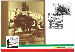 Italia 2015; Prima Guerra Mondiale:Francesco Baracca E Il Cavallino Rampan;FDC E Anche Maximum Card Con Annullo Speciale - 6. 1946-.. Republic