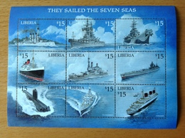 PAQUEBOT NORMANDIE & QUEEN MARY LIBERIA 2001 NEUF** MNH - Maritime