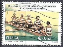 Italia, 2008 Canottaggio 0.65 €. # Sassone 3024 - Michel 3233 - Scott 2864  USATO - 6. 1946-.. Repubblica