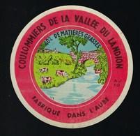 """Etiquette Fromage  Coulommiers De La Vallée Du Ladino  40%mg Fabriqué Dans L'Aube  AJ10 """"vaches Pont"""" - Quesos"""