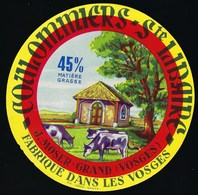 """Etiquette Fromage  Coulommiers Ste Libaire 45%mg J Moser Grand Vosges 88 """"vaches"""" - Quesos"""