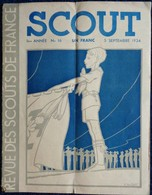 SCOUT - Revue Des Scouts De France - N° 16 - 5 Septembre 1934 - Couverture Pierre Joubert . - Bücher, Zeitschriften, Comics