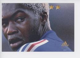"""Djibril Cissé - Juin 2002 """"on A Qu'une Chose En Tête"""" (protrait) Adidas Cp Vierge - Fussball"""