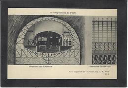 CPA Métro Construction Du Métropolitain Paris Non Circulé - Subway
