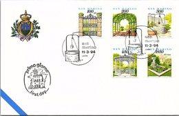 SAN MARINO - FDC  11.3.94   / 2 - Lettres & Documents