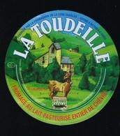 Etiquette Fromage  Au Lait De  Chèvre   La Toudeille Fromagerie La Core Cavalas Bethmale Ariege 09 - Quesos