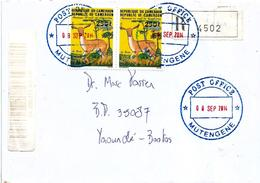 Cameroon Cameroun 2014 Mutengene Antilope Domestic Registered Cover - Kameroen (1960-...)