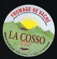 Etiquette Fromage  De   Vache La Cosso  Fromagerie La Core Cazalas Bethmale Ariege 09 - Quesos