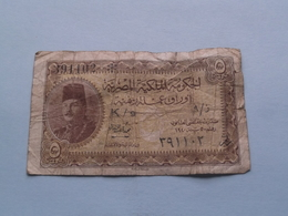 5 Piastres N° 391102 K/9 - Under Law N° 50/1940 - Egyptian Currency Note > See Photo For Detail !!! - Egypte