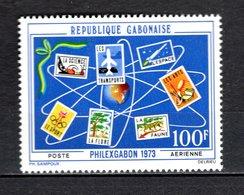 GABON PA N° 137  NEUF SANS CHARNIERE COTE  2.20€  EXPOSITION PHILATELIQUE - Gabon (1960-...)
