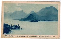 Annecy, Le Lac D'Annecy, Vue Sur Duingt Et Le Massif Des Bauges (pk59060) - Annecy