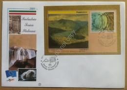 FDC Filagrano Italia 2001 - Industria Serica Italiana - Annullo Tematico Figurat - Francobolli