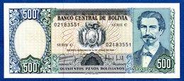 Bolivie  - 500 Pesos     - Pick # 166  -  état  UNC - Bolivia
