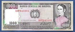 Bolivie  - 1000 Pesos  1982   - Pick # 167  -  état  UNC - Bolivie