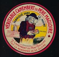 """Etiquette Fromage  Camembert Du Père Ma Gloire Fabriqué Dans Le Maine """"homme, Pipe, Fromage"""" - Quesos"""