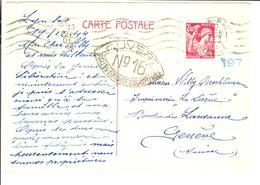 FRANCE Entier IRIS 2.40fr 1944 - Cartes Postales Types Et TSC (avant 1995)