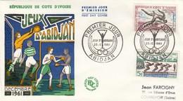 CÔTE D'IVOIRE   - FDC JEUX D'ABIDJAN DECEMBRE 1961 - 23.12.1961   / 2 - Côte D'Ivoire (1960-...)