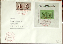 Schweiz Suisse 1943: Centenaire Du Timbre Zu WIII18 Mi Block 10 Yv BF 10 Cachet  GEPH 24.IX.43 GENÈVE (Zu CHF 75.00) - Blocs & Feuillets