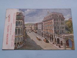 MODERN HOTEL - GENOA Via XX Settembre ( Edit. Richter ) Anno 1912 Genova > Montaigu ( Zie/voir Photo ) ! - Genova (Genoa)