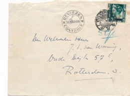 Nederlands Indië - 194? - 25 Cent Wilhelmina Met Opdruk Op Cover Met DEVIEZEN CONTROLE SEMARANG Naar Rotterdam - Nederlands-Indië