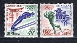 GABON PA N° 122 + 123  NEUFS SANS CHARNIERE COTE 5.00€  JEUX OLYMPIQUES SAPPORO - Gabon (1960-...)