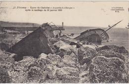 """SEINE MARITIME - 30 - FECAMP - Epave Du Chalutier """" Augustin Le Borgne """" Après Le Naufrage Du 16 Janvier 1909 - Fécamp"""