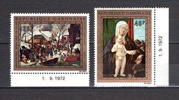 GABON PA N° 132 + 133  NEUFS SANS CHARNIERE COTE 4.00€  TABLEAUX NOEL - Gabon (1960-...)