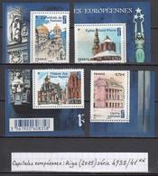 France Capitales Européennes: Riga (2015) Y/T Série 4938/4941 Neufs ** Issus Du Feuillet F4938 - France