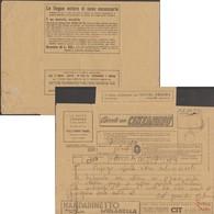 Italie 1939. Télégramme Publicitaire. Mandarinetto, Compagnie Aérienne, Apprendre Des Langues, Mode, Cinéma, Théâtre - Languages