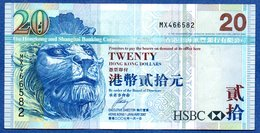 Hong-Kong - 20 Dollars  1/1/2007-  -  état  TTB - Hong Kong