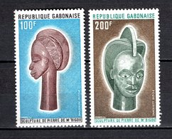 GABON PA N° 141 + 142  NEUFS SANS CHARNIERE COTE 6.50€  ART SCULPTURE - Gabon (1960-...)